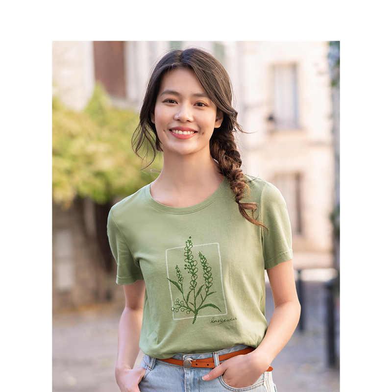 INMAN 2020 여름 새 도착 순수 코튼 라운드 칼라 인쇄 간결한 스타일 레저 짧은 소매 티셔츠