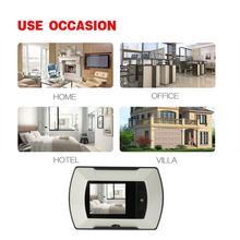 Горячая Высокое разрешение 2,4 дюймов Таблица для проверки зрения монитор Двери глазок просмотра крытый монитор наружная видеокамера DIY