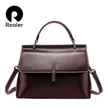 REALER shoulder bag for women vintage messenger bags ladies