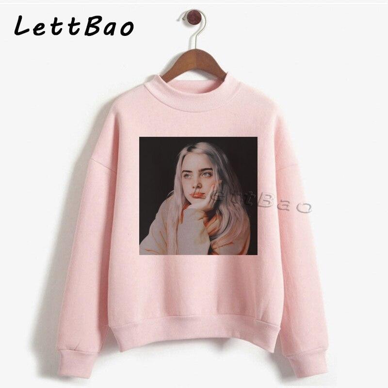 Billie Eilish Hoodie Vintage Aesthetic Punk Streetwear Sweatshirt Gothic Women Hoodies Pullover Korean Women Felpe High Quality