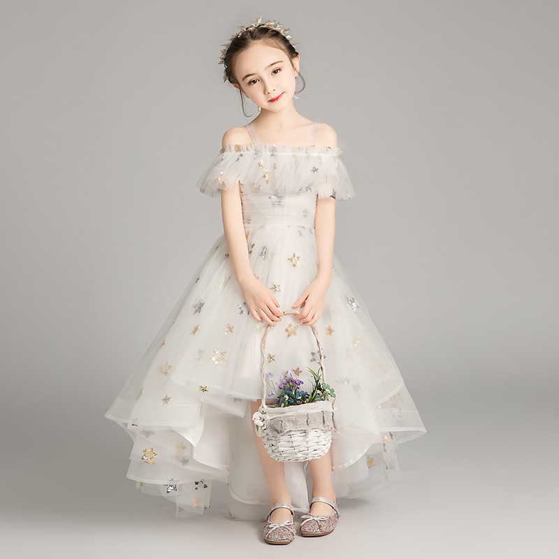 CHILDREN'S Dress Princess Dress Girls Puffy Yarn Host Piano Costume Little Girl Western Style Flower Boys/Flower Girls Wedding D