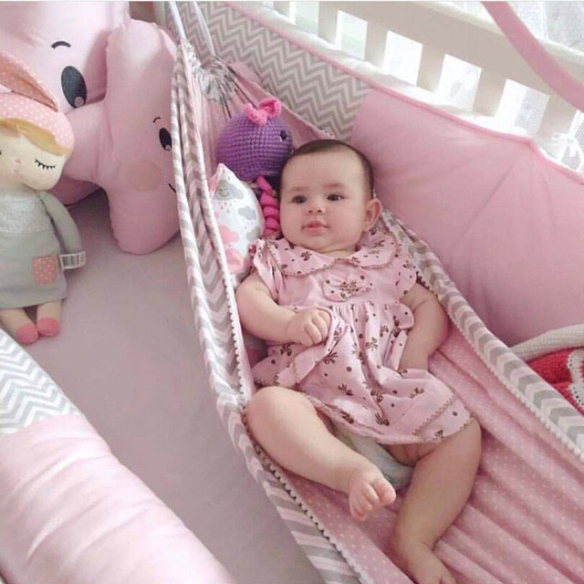 Baby Cribs Hanging Hammock Detachable Portable Folding Indoor Room Outdoor Swing Safety Infant Sleeping Bed Kids Funny Swing 2