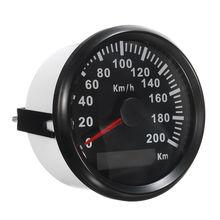 85Mm 200 Km/H Car Motor Auto Stainless Gps Speedometer Waterproof Digital Gauges цена