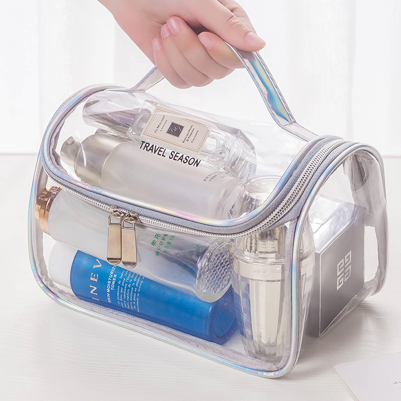 Fashion Transparent Travel Organizer Clear Makeup Bag Beautician Cosmetic Bag Beauty Case Toiletry Bag Make Up Pouch Wash Bags
