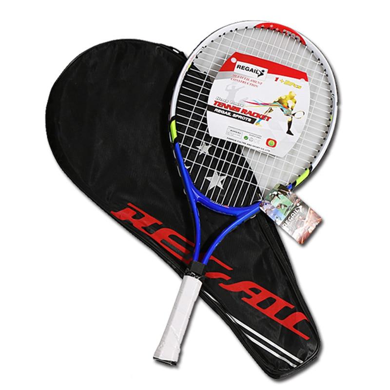 Kids Junior Children Sports Tennis Racket Aluminum Alloy PU Handle Tennis Racket N66