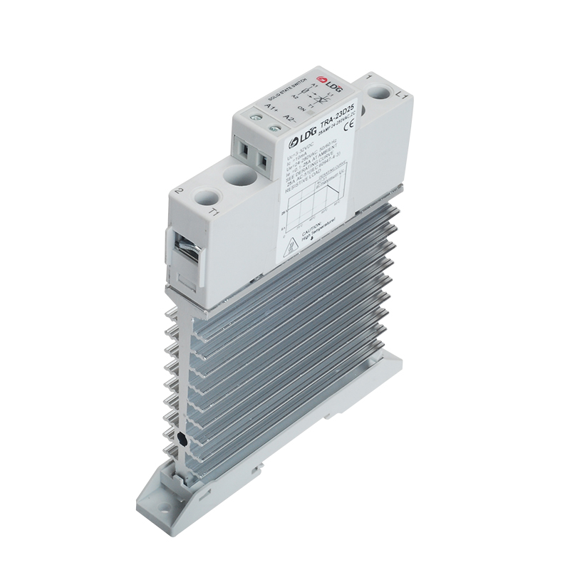 25A <font><b>DC</b></font> <font><b>AC</b></font> Heat Sink Solid State Relay Din Rail SSR <font><b>3V</b></font> 5V <font><b>12V</b></font> 24V <font><b>DC</b></font> Input 24-280VAC Output Voltage Control Relay Board image