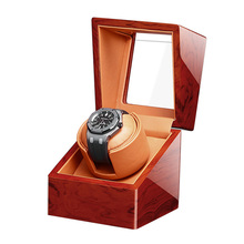 Top Single Watch Winder Motor Auto Self Winding 1 Brown Wooden Watches Box Storage Cabinet Lacquer Case Holder Watchwinder
