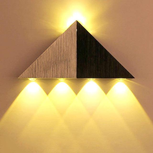 Indoor wall light wavelike aluminu
