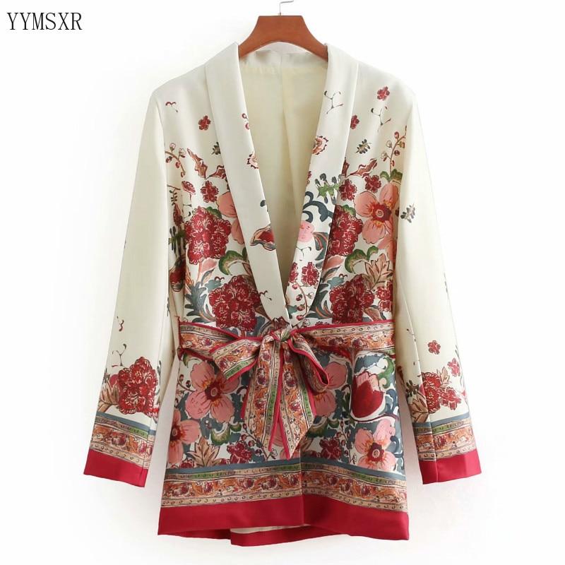 2020 spring and summer women's jacket casual suit feminine Elegant Slim Print Women's Blazer Coat Fashion long sleeve small suit