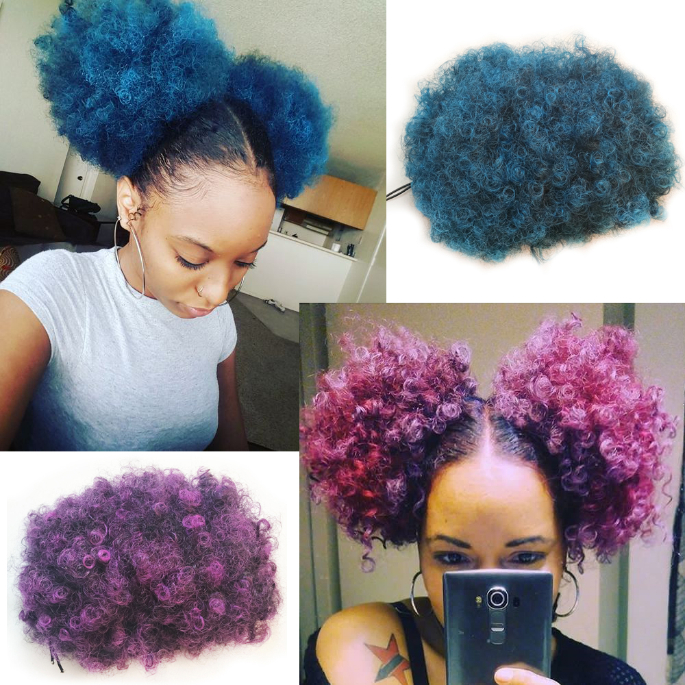 Afro Puff Drawstring Ponytail Synthetic Fashion Hair African