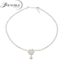 Real Natural Freshwater Small Pearl Necklace Women,Cute Choker White Pendant Necklace Mother Best Gift women white elephant pendant natural cute pendant 28 20 6mm