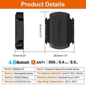 Image 3 - MAGENE gemini 210 S3+ Speed Sensor cadence ant+ Bluetooth for Strava garmin bryton bike bicycle computer speedometer