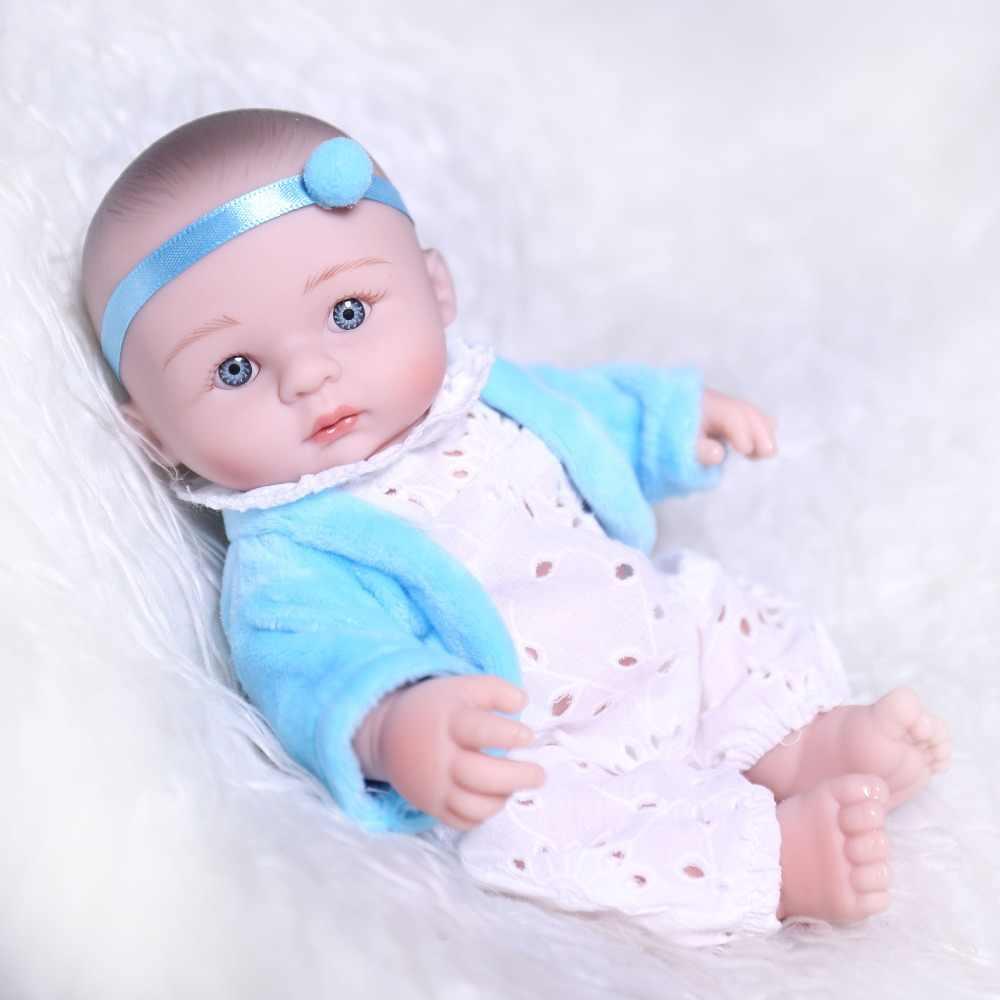 20cm mini bonito boneca de corpo inteiro silicone reborn boneca brinquedos realistas 8 polegada bebês recém-nascidos jogar casa brinquedos crianças silicone mordedor