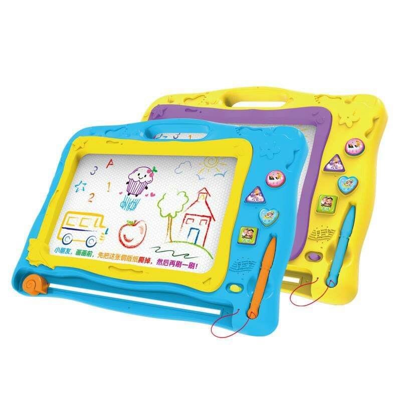 Heng Bo Children Early Education Toy Smart Music Poetry CHILDREN'S Song Magnetic Drawing Board Handwritten Painted Educational D