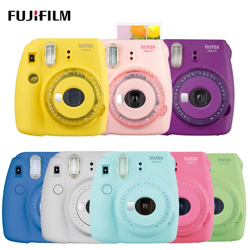 Fujifilm Instax Mini 9 Fuji appareil Photo instantané avec Selfie miroir Film Photo instantané appareil Photo prise de vue Insta Mini 9 nouvelle couleur