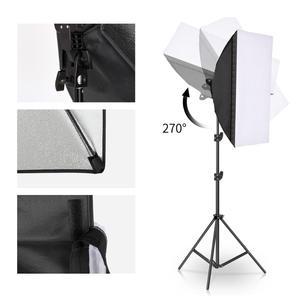 Image 3 - Chụp Ảnh Đèn LED Đính Hạt Softbox Bộ Đèn Kit 2 Màu Ánh Sáng Liên Tục Mềm Hộp 45W Hệ Thống Phụ Kiện Chụp Ảnh Phòng Thu video
