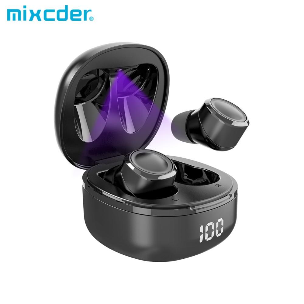 Mixcder X1 Pro Наушники-вкладыши TWS с наушники aPTX Функция чип Qualcomm уф стерилизация светильник BT5.1 с USB-C Зарядное устройство Беспроводной наушники