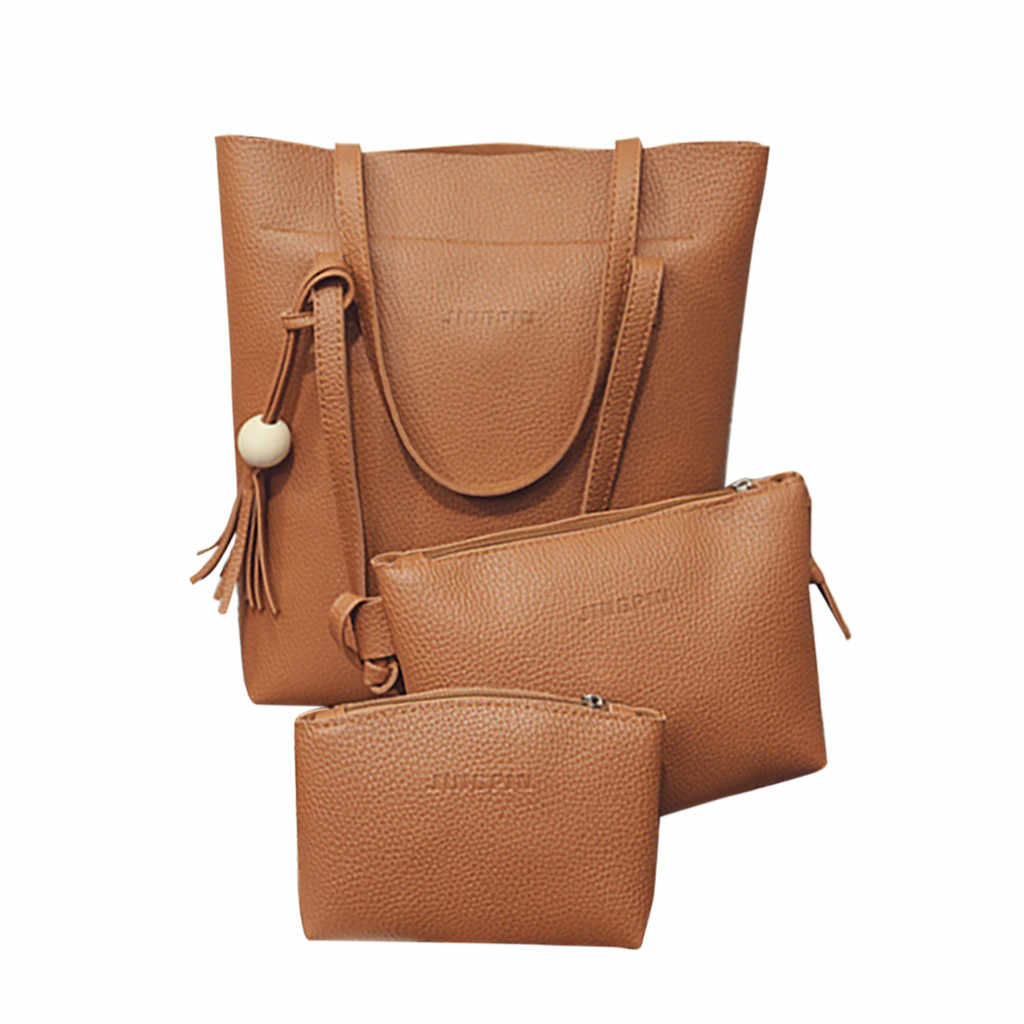 Kwasten Fashion luxe handtassen vrouwen tassen designer Vrouwen Lederen Schoudertas Crossbody Tas Clutch Portemonnee Retro Tas 3PCS