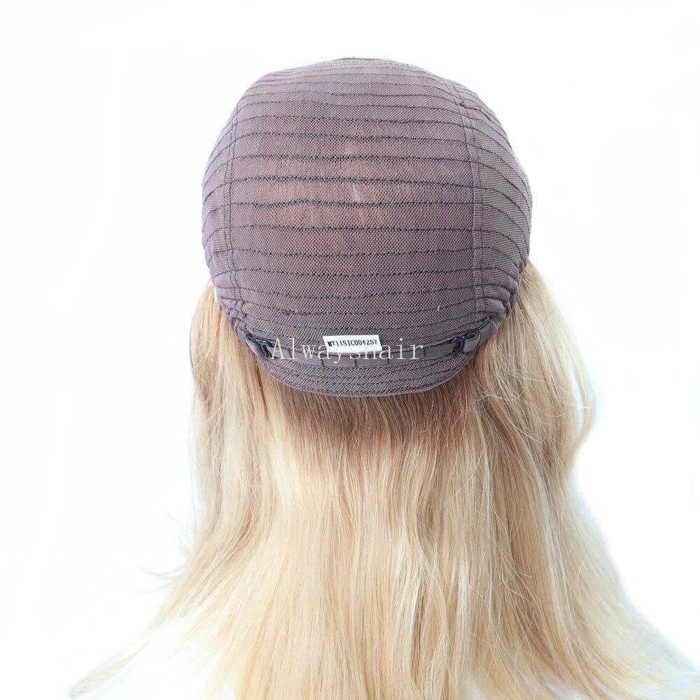 """MT11 - 14.5 """"Vrouwen Luxe Pruik Mono Top Joodse Pruik Lace Front Menselijk Haar Pruik Chinese Culticle Remy Haar pruiken Voor Vrouwen"""
