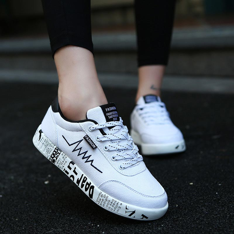Canvas Women's Sports Shoes Sport Running Shoes Sporty Woman Sneakers Summer Athletic Shoes Women Wihte Jogging Fitness A-381
