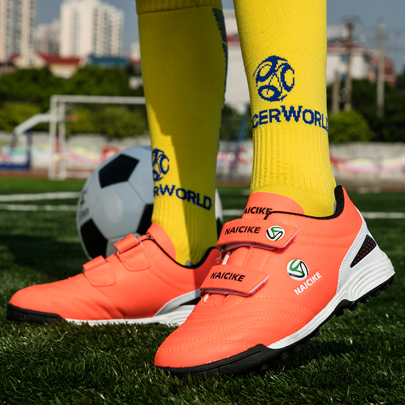 Размер E27 39 Детская уличная футбольная обувь, детские тренировочные футбольные бутсы, мальчики девочки дерн гоночные футбольные бутсы