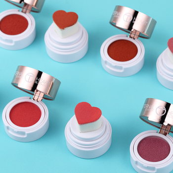 O.TWO.O Makeup Face Blusher Powder Heart shape Waterproof Long Lasting Lip liquid Natural Cheek Face Base Contour Blush Makeup ruby rose face makeup cheek blusher pigmented natural face blusher powder cosmestics professional palette blush contour shadow