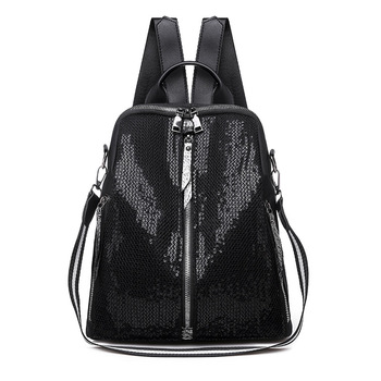 10L Oxford Backpack Women 2020 Sequins Backpacks for Fashion School Bags Teenage Girls Korean Back Pack Black Solid