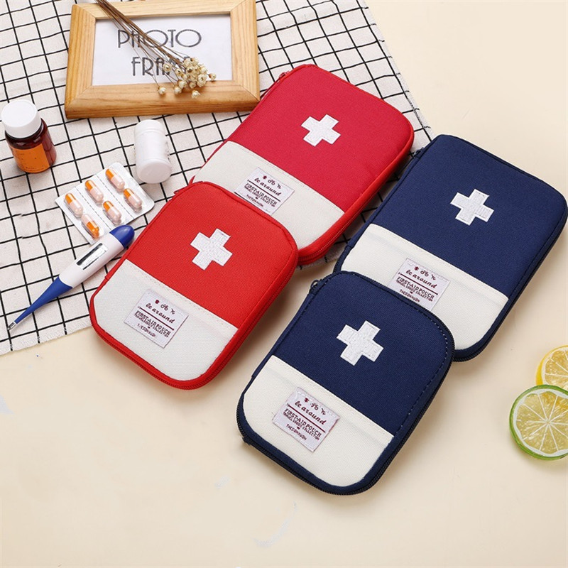 1 Piece Portable Mini First Aid Kit Bag Emergency Kit Bags Travel Medicine Package Small Medicine Storage Organizer