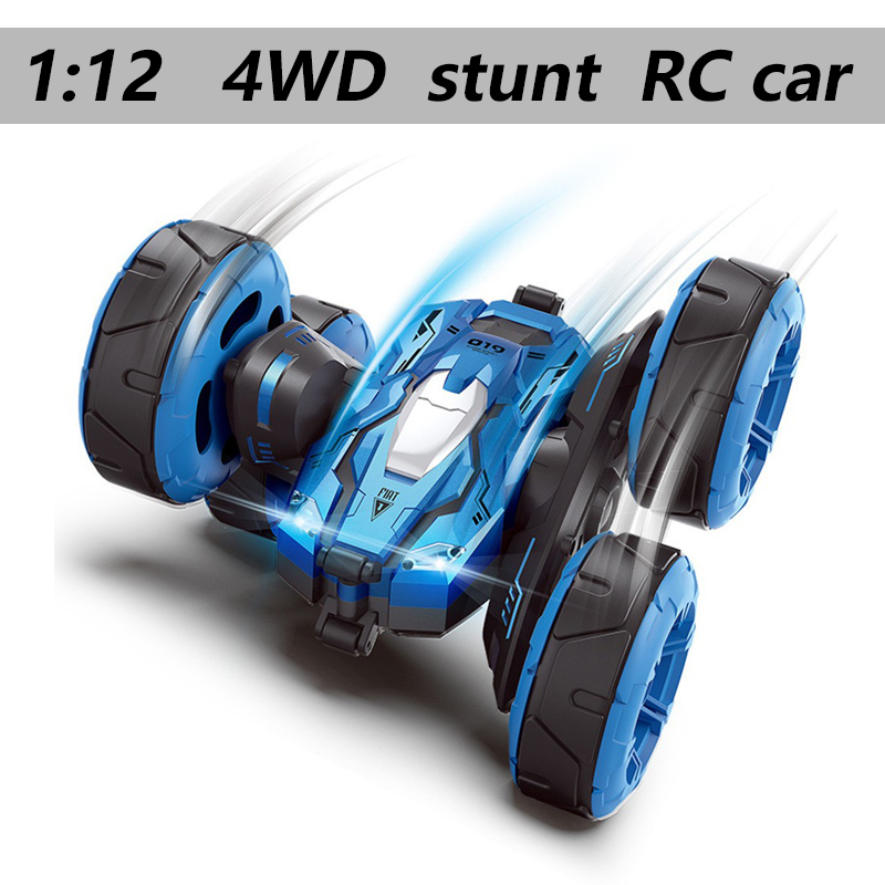 1:12 Rc Car 4wd Large Size Off-road Remote Control Car Drift Stunt Deformation Double-sided Car Wheel Rechargeable Children Toy