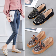 Doudou shoes, women's new spring and autumn 2020 bow, small fragrance, pregnant women's shoes with soft soles and Ladles