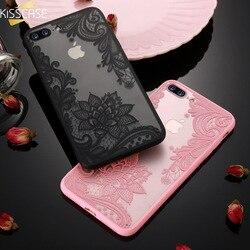 KISS чехол Чехол с кружевным и цветочным принтом для iPhone 8 Plus 8 7 винтажный цветочный чехол для iPhone 7 6S 6 Plus 5S 5 XS Max XR X 10 11 Pro Max Funda чехол на айфон xr че...