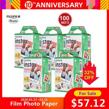 Fujifilm Instax Mini 100 arkusze biała folia papier fotograficzny migawka Album natychmiastowy druk dla Fujifilm Instax Mini 8 Mini9 7 s 25 90 tanie i dobre opinie Natychmiastowa Film 20 Sheets White Film Photo Paper