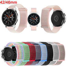 42mm/46mm Strap For Samsung Galaxy 46MM Leisure Nylon Watch Straps Gear S3/Watch Active 2 Watchband Bracelet