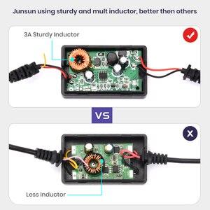 Junsun DC 12/24V 5V 3A 3M мини USB Автомобильное зарядное устройство Жесткий провод Hardwire комплект для приборной камеры Reaview зеркальная камера GPS автоматическая зарядка