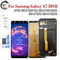 AMOLED LCD Für SAMSUNG Galaxy A7 2018 Display A750 LCD SM-A750FN/DS A750F A750G A750GN Bildschirm Touch Sensor Digitizer montage