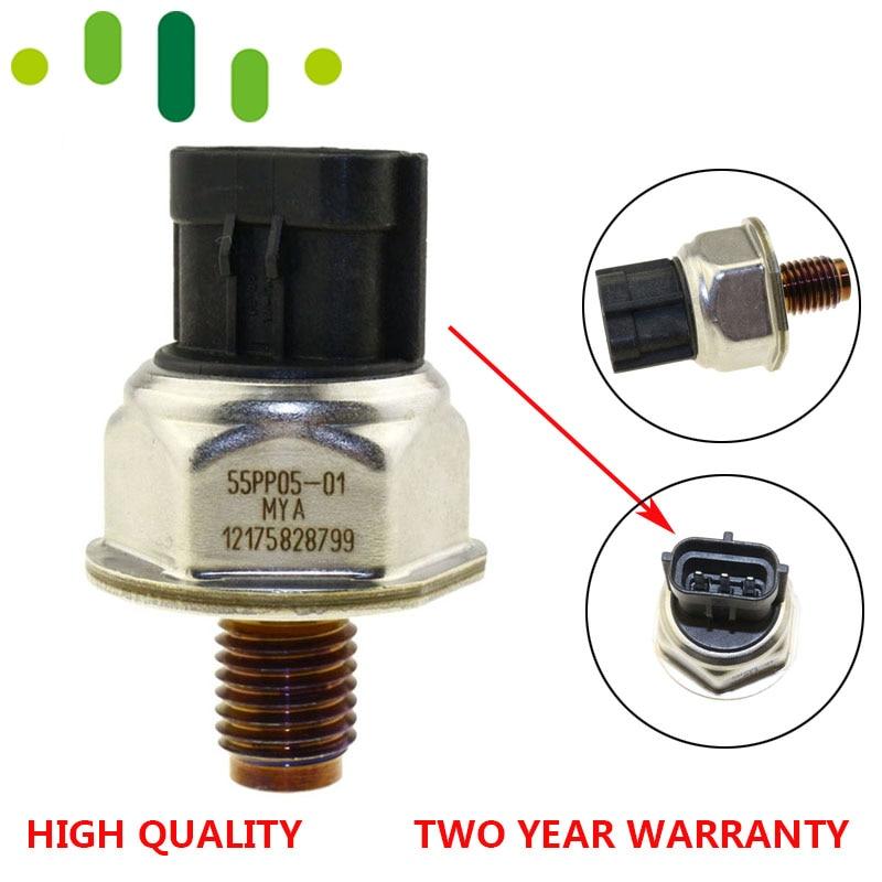 Original For CITROEN JUMPER RELAY PEUGEOT BOXER 2.2 HDI Mitsubishi L200 Pajero Fuel Rail High Pressure Sensor 55PP05-01 55PP0501