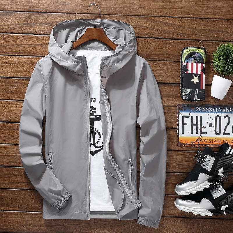 Sport Outdoor Cycling Thin Coat Jackets Man Casual Loose Men's Windbreakers Jacket Male's Candy-Colored Outwear Tops