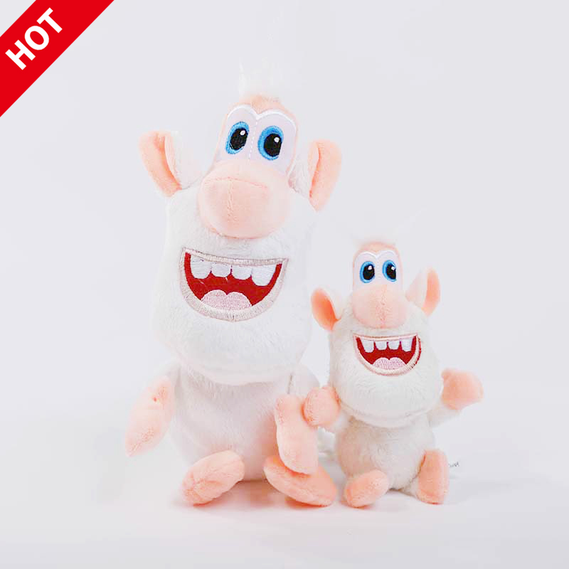Russian Buba Cartoon Little White Pig Plush Toy White Monkey Soft Cotton Doll Action Figures Toys For Children Christmas Gifts