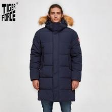 Tigre força homens parka jaqueta de inverno longo alaska jaqueta casaco de pele de guaxinim capuz inverno masculino jaqueta grossa à prova doutágua outwear