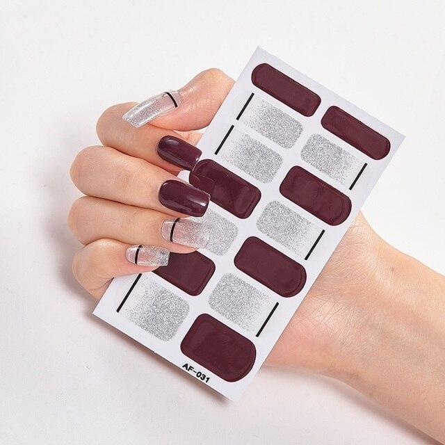 Фото полное покрытие наклейки для ногтей художественное оформление
