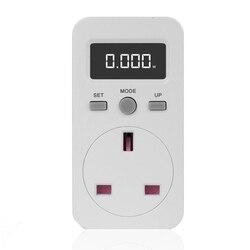 Cyfrowy miernik mocy gniazdo wtykowe watomierz elektryczny miernik zużycia energii wtyczka brytyjska