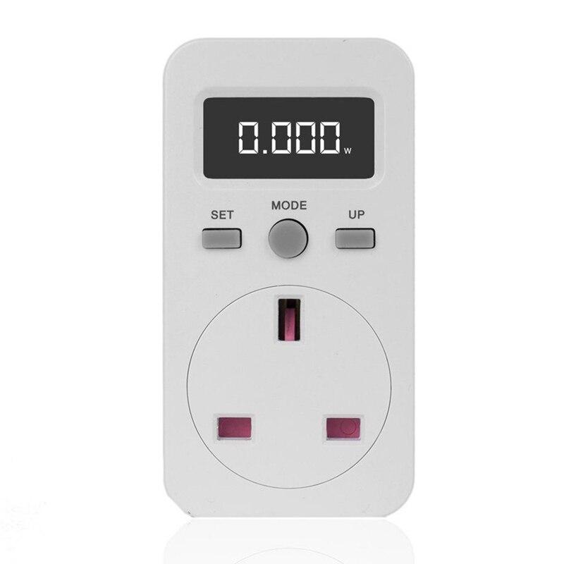 Digital Power Meter Plug In Socket Electric Wattmeter Energy Monitor Uk Plug|Power Meters| |  - title=
