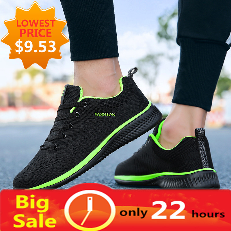 New Style Lace Up Male Sneakers Casual Breathable Mens Mesh Shoes Popular No-slip Men Shoes Tenis Masculino Zapatillas Hombre 66 1