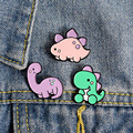 Новая стильная футболка с изображением персонажей видеоигр pin эмаль брошки в виде динозавров для женщин рубашка рюкзак ковбой значок оптов...