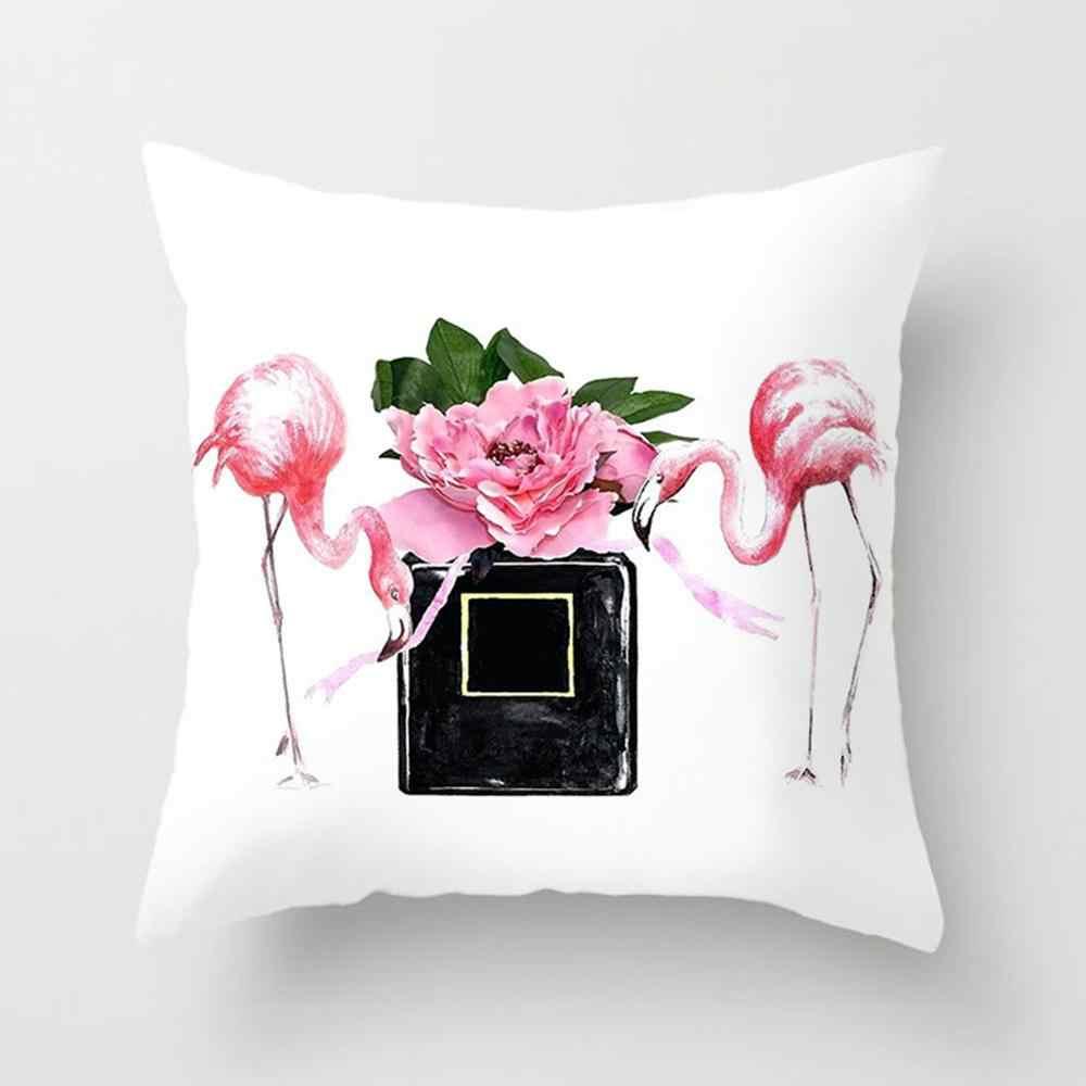 45X45 Cm Bantal Kursi Penutup untuk Sofa Super Lembut Bunga & Botol Dicetak Sarung Bantal Home Dekoratif Bantal Cover