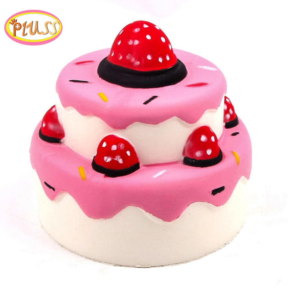 Jumbo Kawaii Squishies Strawberry Cake Scented Slow Rising Squeeze Toys Stress Reliever Anti-stress Gift Toys For Kids Adults