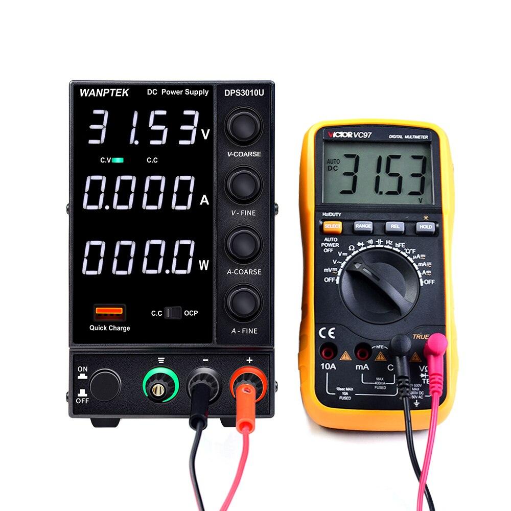 Wanptek DPS3010U 305U 605U switching DC power supply adjustable 4 digit lab Bench power source 30V 10A 30V 5A 0.01V 0.001A AC-1