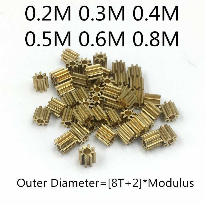Nova Chegada 0.2M 0.3M 0.4M 0.5M 0.6M 0.8M 8T metal pinhão de bronze m0.6 para 2.0 milímetros/3.0 milímetros 1.0 milímetros 1.5 milímetros tamanho do eixo motores