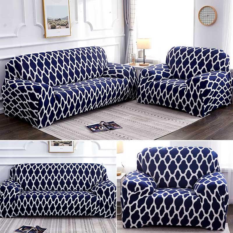 Геометрический эластичный чехол для дивана на стул современный