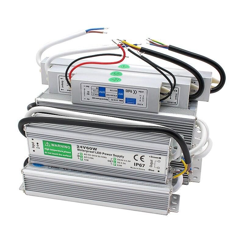 Zasilacz 24 V AC DC IP67 wodoodporny 24 V zasilacz 24 V Volt Fonter 20W 25W 30W 45W 50W 60W 80W 120W 150W SMPS